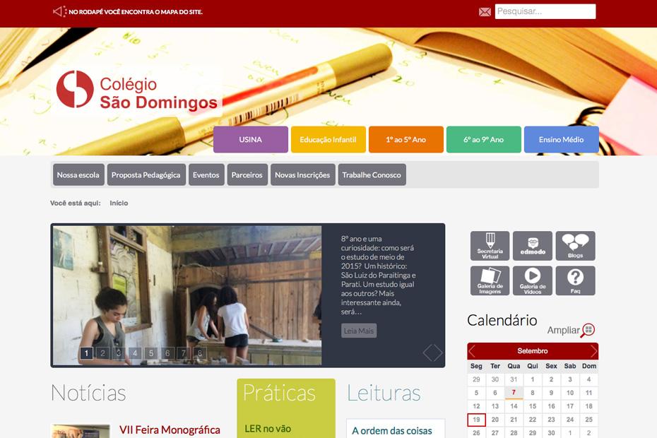 Site Colégio São Domingos