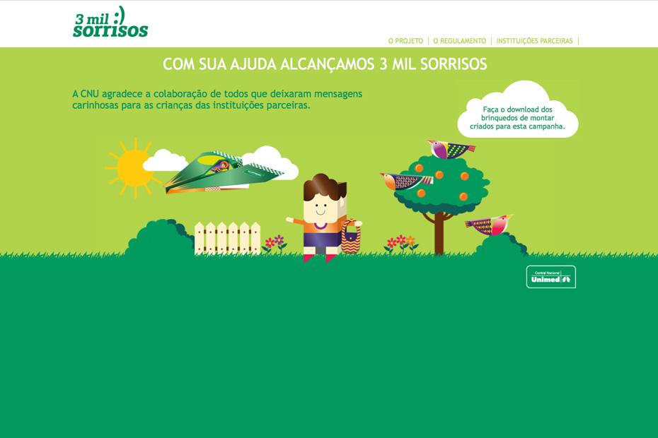 Hotsite 3 Mil Sorrisos para a Central Nacional Unimed